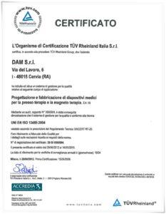 Certificiato Elettrostimolazione Con Infrarossi